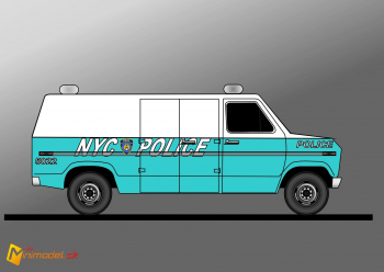 FE2187 FORD ECONOLINE NYPD