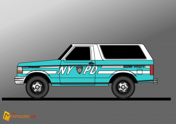 FE2194 FORD BRONCO NYPD
