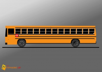 FE2296 BLUEBIRD SCHOOL BUS